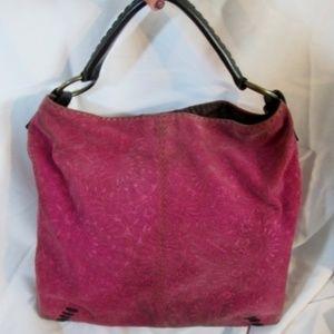 LUCKY Suede Leather hobo satchel shoulder bag